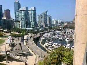 Waterfront 2 bedroom 2 bath Downtown Vancouver Coal Harbour Apt