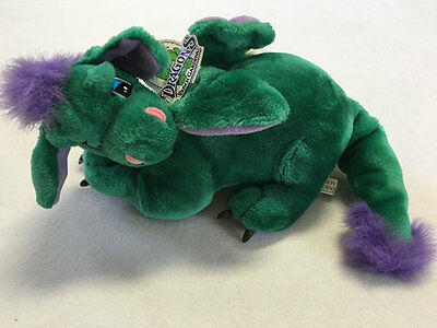 Nwt Busch Gardens Land Of The Dragons Plush Green Purple Yellow Dragon Wings