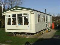 Static caravan for sale. Sited on Haven Lakeland, 8 berth Willerby Salisibury