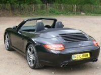 Porsche 911 Cabriolet (2010 Black on Black) 3.6l