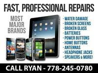 Cell Phone and iPhone, iPad, Samsung Tablet Repair - Most Models