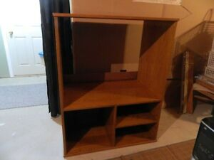 "Oak TV & Stereo Entertainment Unit (48""x 37""x22""D)"