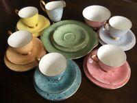 Vintage Royal Albert Gossamer Bone China Tea Set with Cake Plate 20-piece