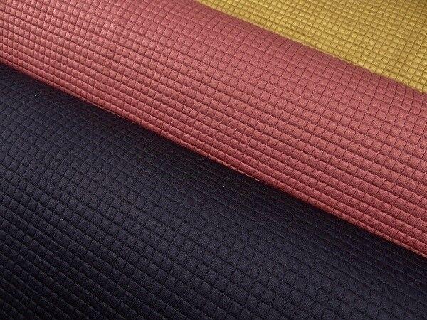 0,50 m Steppstoff elastisch Quadrate 0,7 cm farbig Polyester Elasthan Stoffe