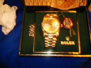 18k.750 SOLID GOLD ROLEX PRESIDENTIAL (DD) DOUBLE QUICKSET WATCH