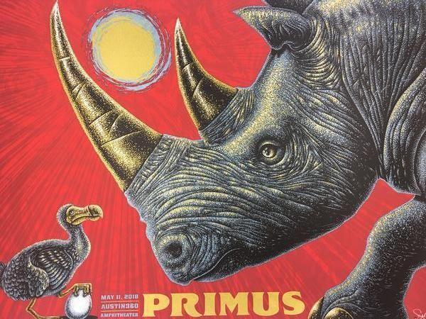 Primus - 2018 Todd Slater Poster Austin, TX Austin360 Amphitheatre