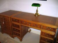 Antique Reproduction Desk & 2 Filing Cabinets