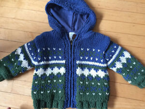 Heavy knit jacket 12-18 months