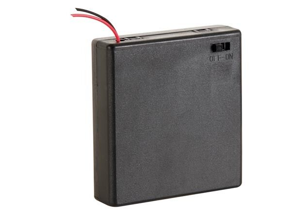 Velleman BH341BS BATTERY HOLDER FOR 4 x AA-CELL (WITH LEAD TERMINALS) + SWITCH