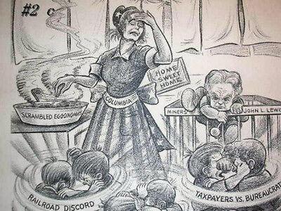 Original 1940 Reading Eagle Times Newspaper Illustrated Art  By Gensler   2