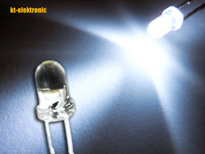 10 Stück LED 3mm weiß ultrahell 12000mcd Mcd Led