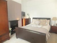 King Size Brown Leather Bed, Good Condition