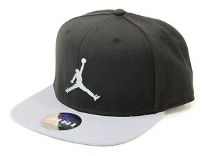 nike true jumpman snapback hat cap black grey cool