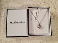 """MM Crystal Necklace with Swarovski Crystals - 15.5"""" chain"""