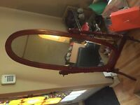 Standing mirror for sale at $30.