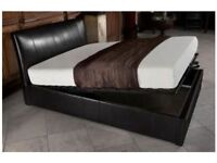 🔥💗🔥SAME DAY CASH ON DELIVERY🔥🔥New DOUBLE / KING Gas Lift Storage Ottoman Leather Bed + Mattress