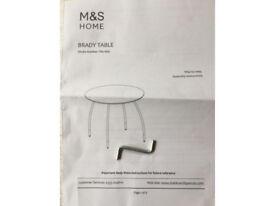 M&S BRADY TABLE