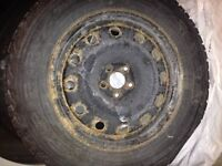 """16"""" winter tires and steel rims for sale"""