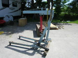 Heavy duty 3 ton engine hoist for rent or sale