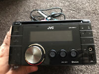 JVC KW XR811 double din Stero with front USB, aux and Bluetooth model