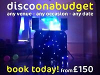 discoonabudget - any venue - any occasion - any date - from £150 *** NATIONWIDE ***