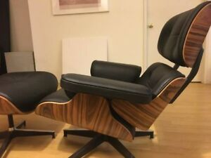 Eames lounge chair, FULL GRAIN LEATHER.  100% perfect condition