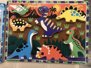 Puzzles. Sea creatures and dinosaurs
