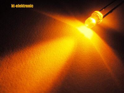 10 Stück LED 3mm orange ultrahell 6000mcd Mcd Led