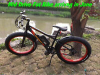 Electric MID DRIVE Fat Bike 48v 750w