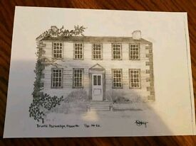 Charlotte Emily Anne Bronte Parsonage Haworth Limited Edition Hand-signed Print
