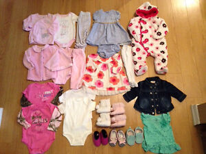 3-6m girls clothing, shoes, outerwear