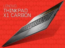 X1 Carbon lenovo thinkpad i7 core, 8GB ram, 256GB SSD, WQHD+ Touchscreen, warranty! IBM