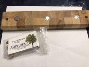 Wooden magnetic knife/key holder