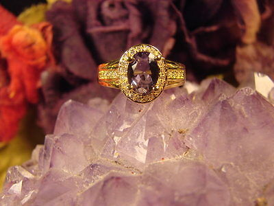 ~Beautiful Witch's 925 Amethyst Psychic Dream Ring & Spell Scroll~Pagan Vessel~
