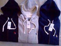 Ralph Lauren Classic Fleece Hoodie full zipper for Men 3x colours £25 each cotton