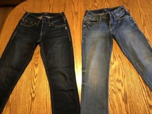 Size 27 ladies silver jeans