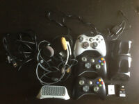 XBOX 360 with GAMES and CONSOLES