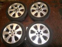 "Vauxhall Vectra C Elite 17"" Alloy wheels and tyres Sri 2002-2009 5 x 110 7j Astra Corsa 225/45 Rim"