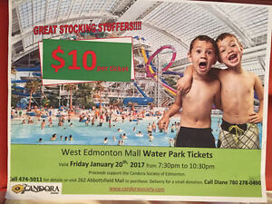 West Edmonton Mall, Exclusive Use Waterpark Tickets!!