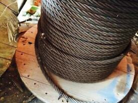 10mm galvanised wire / rope / winch / fencing / 100 metre / On Reel call me for info