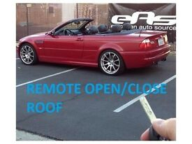 BMW E46 CONVERTIBLE ROOF OPEN AND CLOSE FROM REMOTE