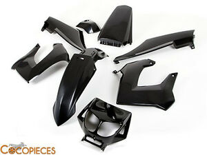 kit car nages derbi senda gilera smt rcr 2000 2010 fairing plastics new black ebay. Black Bedroom Furniture Sets. Home Design Ideas