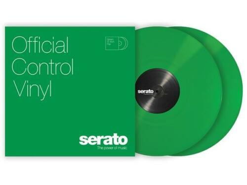 "GREEN 12"" Serato Control Vinyl (Pair)"