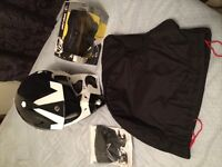 BRP carbon light xp-r2 helmet and skidoo quick strap goggles