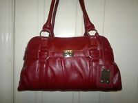 Hand bag---Maroon colour ----Good condition ---