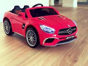 Licensed AMG SL65 Kids ride on car w/ touchscreen Screen - Pink Kingsgrove Canterbury Area Preview