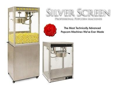 Commercial Popcorn Machine Maker Stand Silver Screen 8 Oz Popper 1108730087