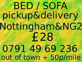 SOFA pickup & delivery in Notingham & NG2 ~ £28