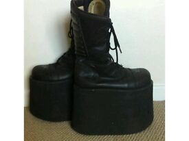 "GOTH Swear size 5 custom made 6"" high leather boots"