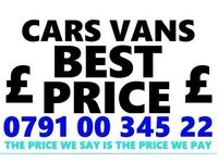 07910034522 SELL MY CAR 4X4 FOR CASH BUY YOUR SCRAP MOTORCYCLES F